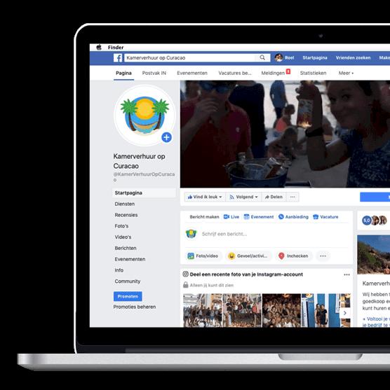 Facebook uitbesteden Curacao