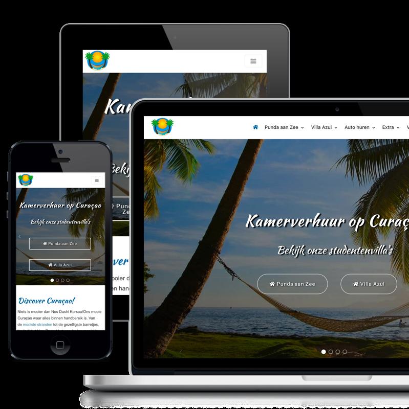 Website kamerverhuur op Curacao